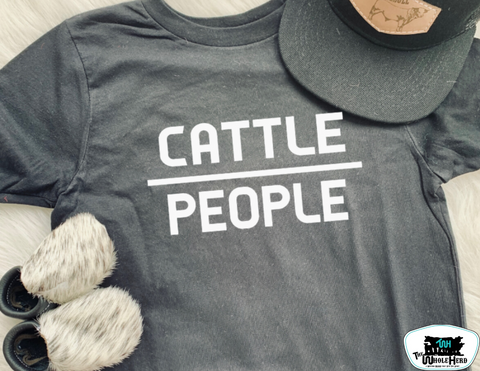 Cattle Over People Kids Western Tee