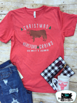 Christmas Hereford Grains Adult Western Tee