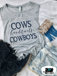 Cows, Cocktails & Cowboys Adult Western Tee