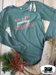 Punchy Christmas Adult Western Graphic Tee