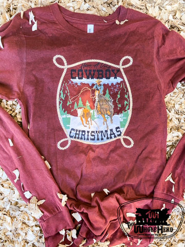 Very Cowboy Christmas Kids Western Graphic Tee
