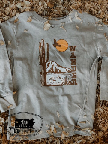 Wander Kids Western Graphic Tee