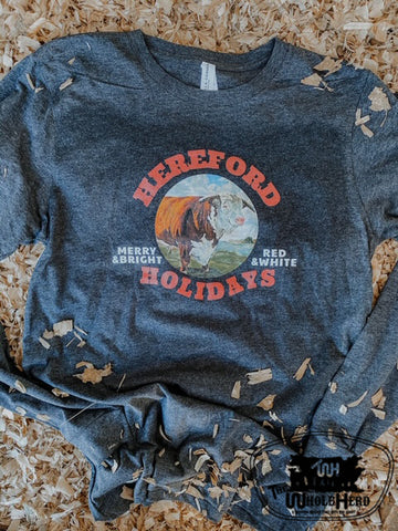Hereford Holidays Adult Western Graphic Tee
