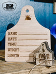 Wooden Monthly Milestone Eartags
