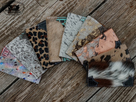 Cowhide & Leather Checkbook Covers