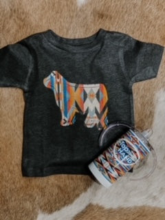Southwest Show Steer Kid's Western Graphic Tee