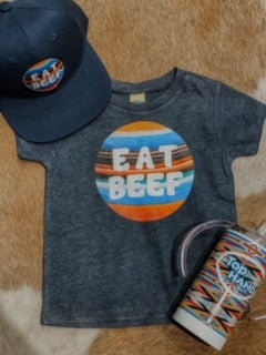 Retro Eat Beef Kid's Western Graphic Tee