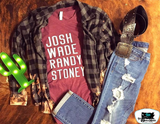 Josh Wade Randy Stoney Adult Western Tee