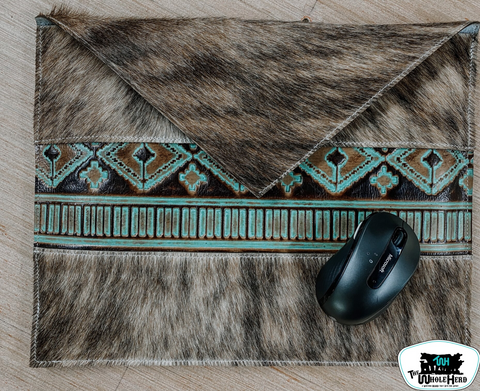 Cowhide & Leather Laptop Case