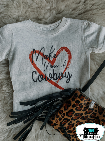 Make Mine A Cowboy Kids Western Tee