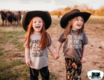 Easily Distracted by Horse Kids Western Tee