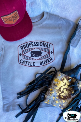 Professional Cattle Buyer Kids Western Graphic Tee