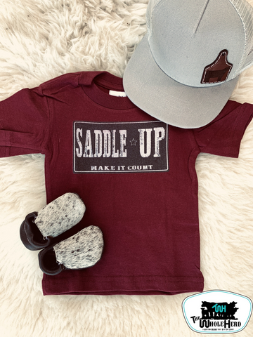 Saddle Up Adult Western Graphic Tee