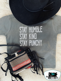 Stay Punchy Kids Western Tee