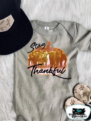 Stay Thankful - Cows Adult Western Tee