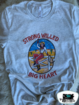 Strong Willed Big Heart Adult Western Graphic Tee