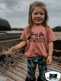 Thank God for Cowboys Kids Western Tee