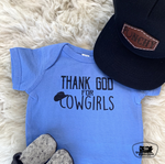 Thank God for Cowgirls Adult Western Tee