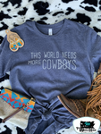 This World Needs More Cows Adult Western Tee