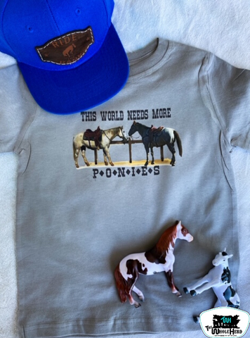 This World Needs More Ponies Adult Western Graphic Tee