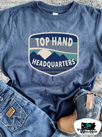 Top Hand Headquarters Midnight Kids Western Tee