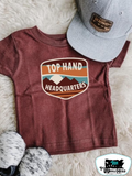 Top Hand Headquarters Tuscan Adult Western Tee