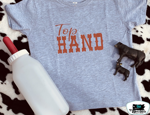 Top Hand Kids Western Graphic Tee