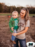 Easily Distracted by Tractors Kids Western Tee