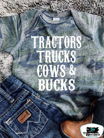 Tractor Boy Kids Western Graphic Tee