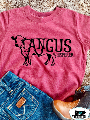 Angus Whisperer Adult Western Graphic Tee