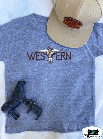 Stay Western Boys Kids Western Graphic Tee