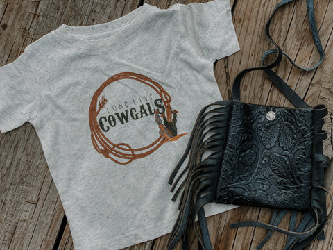 Long Live Cowgals Kids Western Graphic Tee