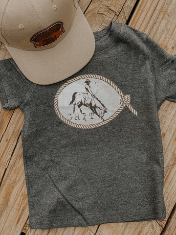 Grit Kids Western Graphic Tee