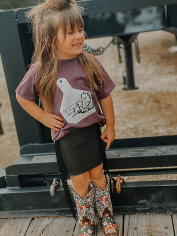 Cow Calf Eartag Kids Western Graphic Tee