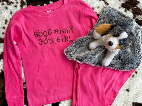 Good Night Cowgirl Kid's Pajama Set