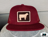 Leather Patch Youth Throwback Caps
