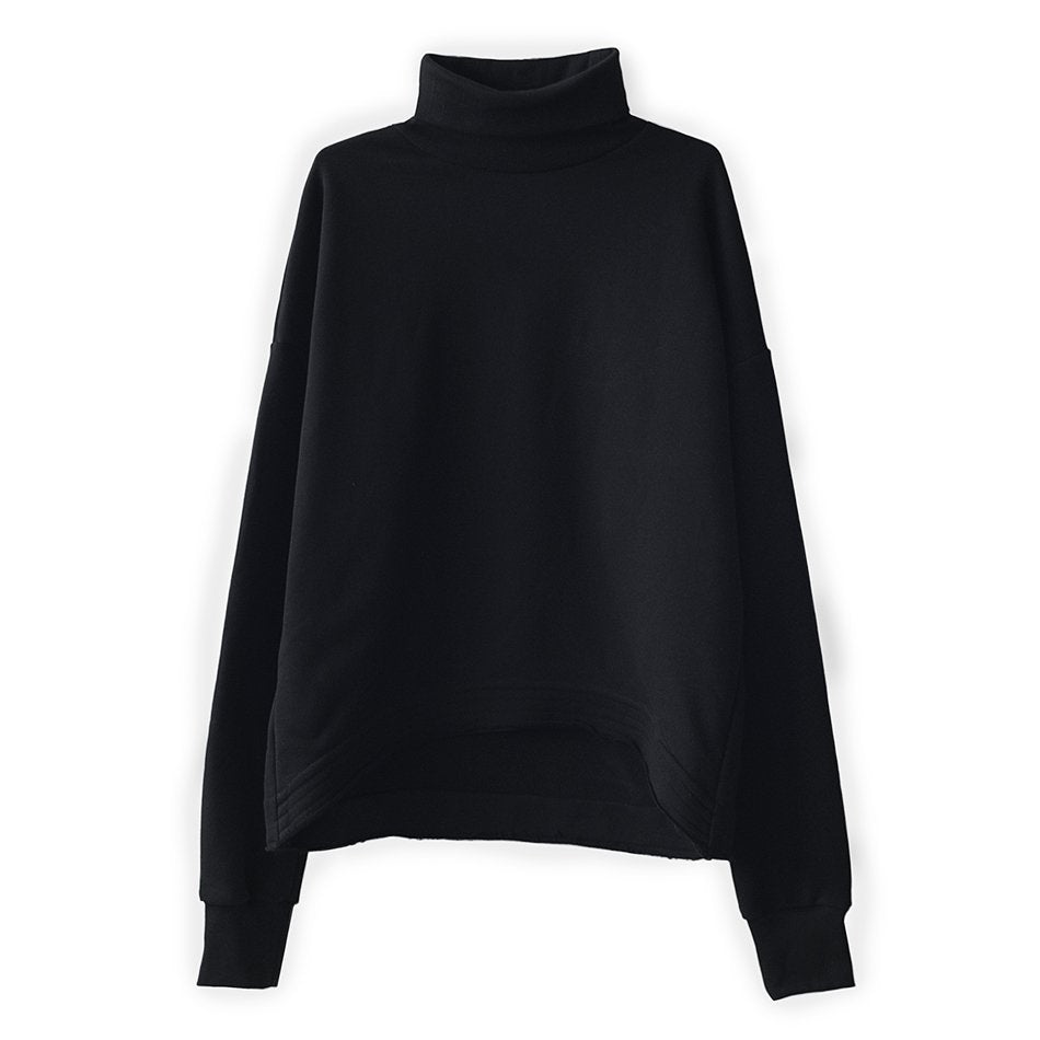 CROPPED TURTLENECK SWEAT
