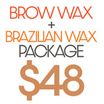 Brow Wax + Brazilian Wax