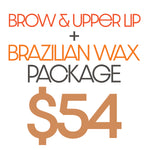 Brow + Upper Lip + Brazilian Wax