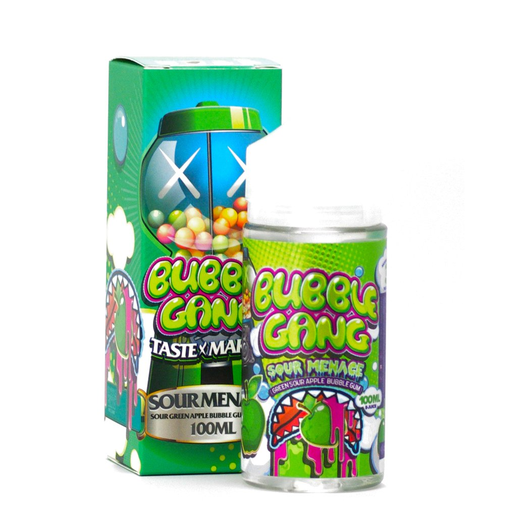 Okami Brand Bubble Gang E-Liquids Sour Menace in 100mL Chubby Gorilla Bottles