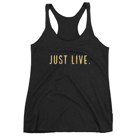 Just Live Women's Racerback Tank