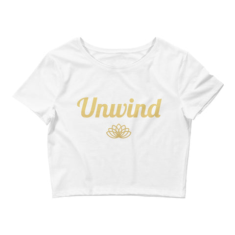 Unwind Women's Crop Tee - Gold