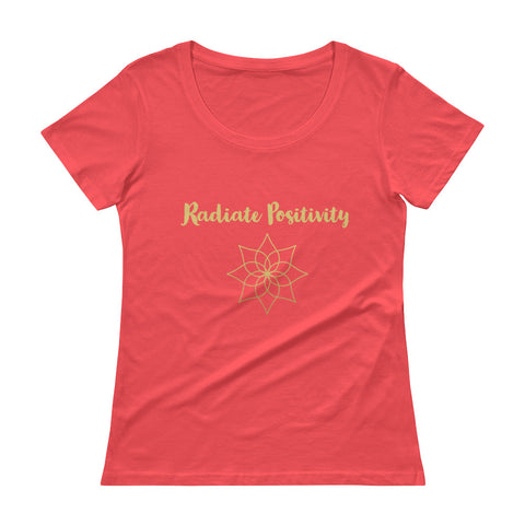Radiate Positivity Ladies' Scoopneck T-Shirt