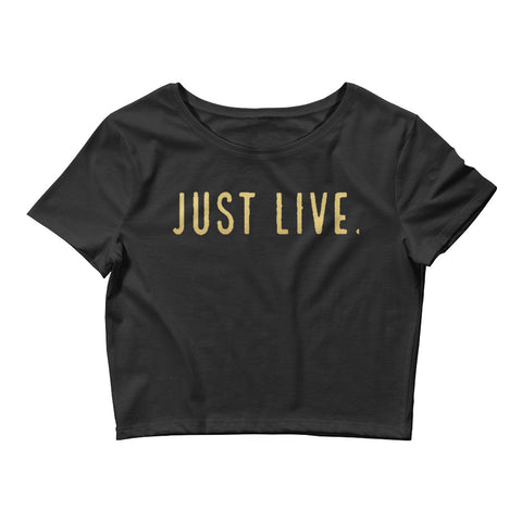 Just Live Women's Crop Tee