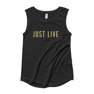 Just Live Ladies' Cap Sleeve T-Shirt