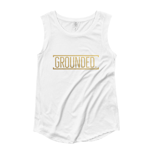 Grounded Ladies' Cap Sleeve T-Shirt