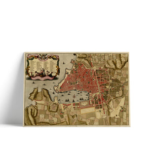 Old map of Marseille Created 1705 Hidden Maps