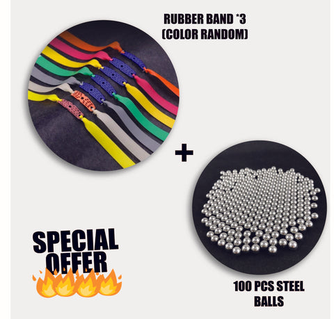 RUBBERS BAND & STEEL BALLS