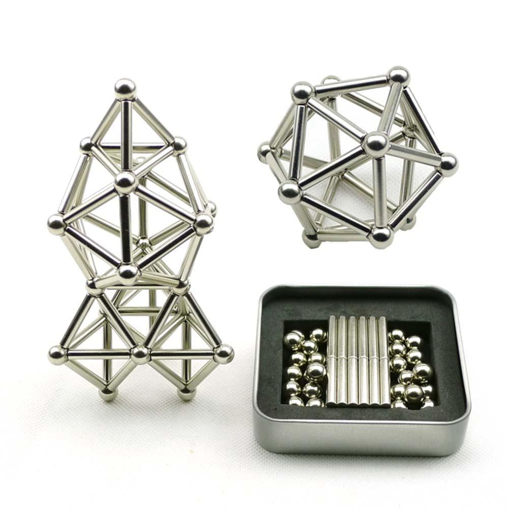 Best Gift, 36PCS Creative Magnetic Sticks And 27PCS Steel Spheres