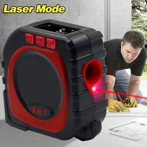 3 IN 1 MEASURE LASER DIGITAL TAPE MEASURE TOOL